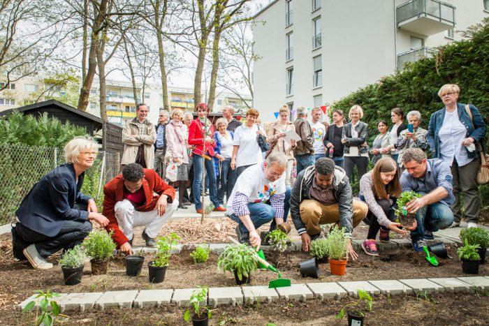 Ein Garten für die neuen Bewohner